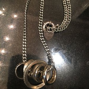 Giles and brother multi-ring necklace